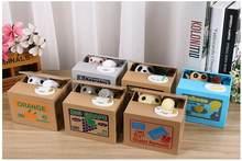 Cofrinho de cartoon cofrinho gato, armazenamento automático de moedas, dinheiro, presente, aniversário, crianças