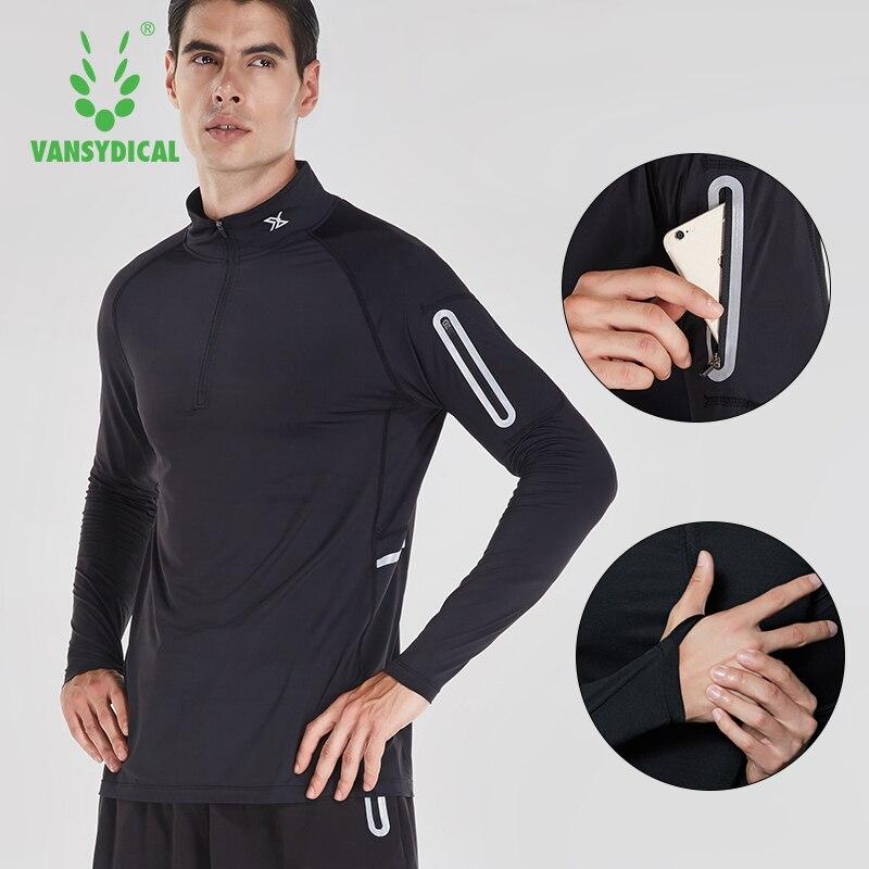 Koşu gömlek erkekler fermuar kazak mandalina yaka uzun kollu cep spor aktif giyim spor giyim egzersiz gömlek erkek