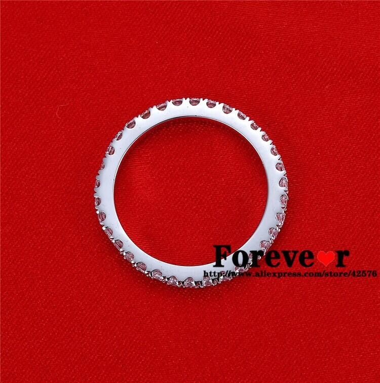 Gratis express verzending 100% Echt 585 Ringen met Moissanite trouwringen, wedding band, Brilliant Moissanite Passeren de test - 2