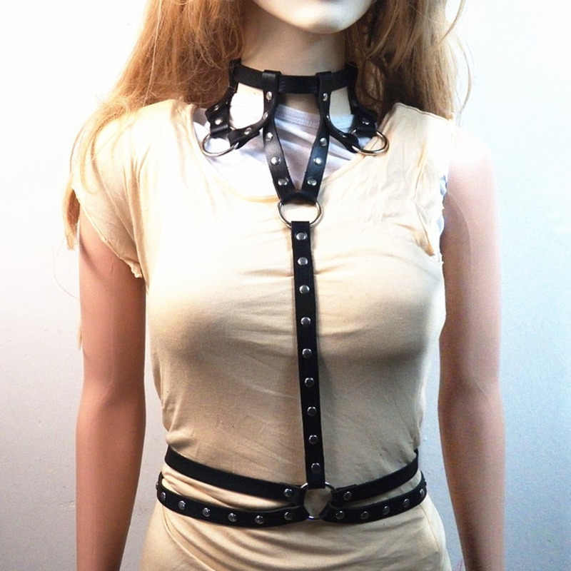 COLEMJE deri koşum gerdanlık şekillendirici bel kemerleri kadın vücut esaret kemer Metal halkalar perçin korse kemerler bayan kemer