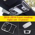 Для Ford F-150 2019 хромированный передний светильник для Чтения Набор литья отделка 3 шт