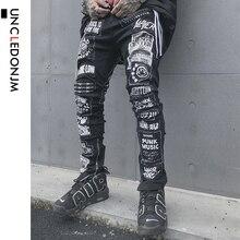 UNCLEDONJM Men's Casual Black Jeans 2019 Men Skinn