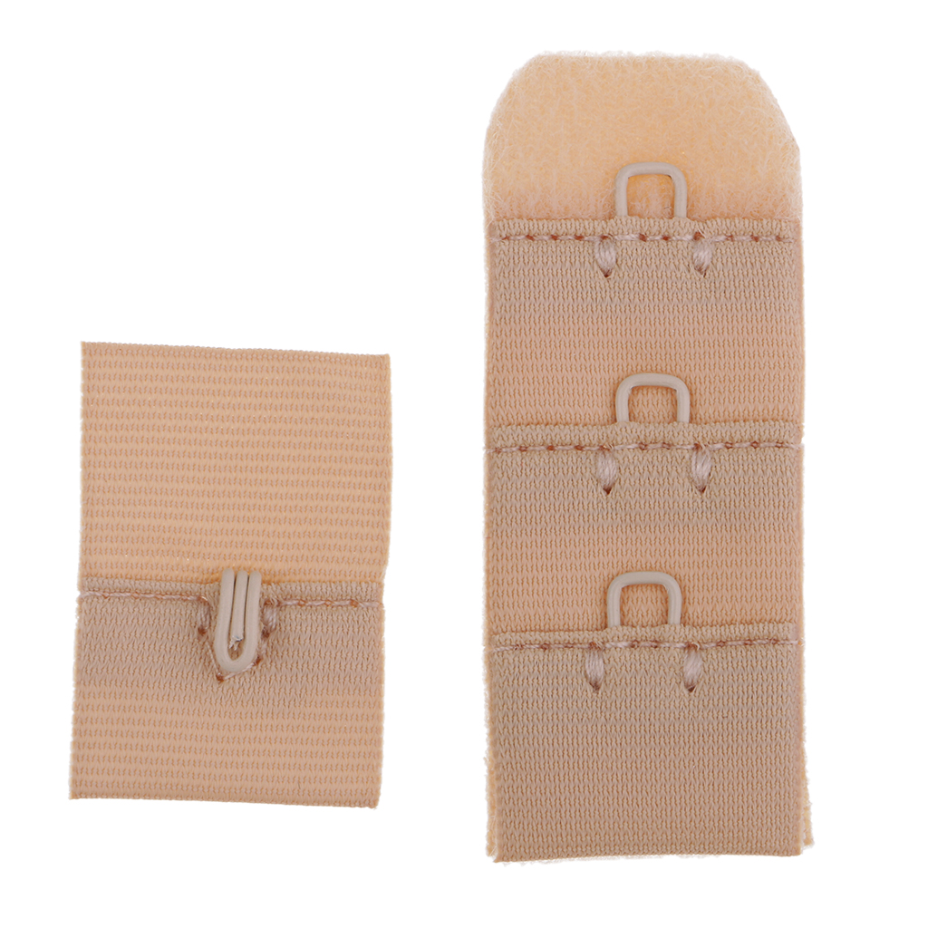 1 Set DIY Women Bra Extender 1 Hook 3 Rows Bra Extension Set Women's Underwear Strap Clothing Accessories Supplies Replacement