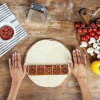 Rodillo con patrón de masa para hornear galletas, utensilio de cocina para el hogar, decoración de ayuda