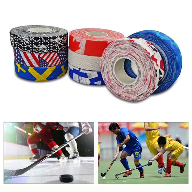 Hockey Stick Tape Multipurpose Colorful Sport Safety Cotton Cloth Enhances Ice Field Hockey Badminton Golf Tape New 3