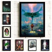 Супергерой, Джокер Хоакин Феникс Хит Леджер DC фильмы-Комиксы настенная живопись Печать на холсте плакат картины Домашний декор