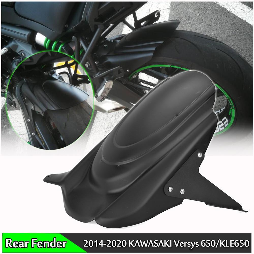 Lorababer for Kawasaki Versys 650 KLE650 Rear Hugger Fender Mudguard Wheel Cover Tire Splash Guard 2007-2020 Versys650 2015 2016 2017 2018 2019 Black