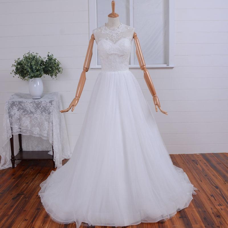 Free Shipping Casamento Cheap Lace Wedding Dress Appliques Vestido De Noiva 2015 New Fashionable A-line Button Bride Dresses