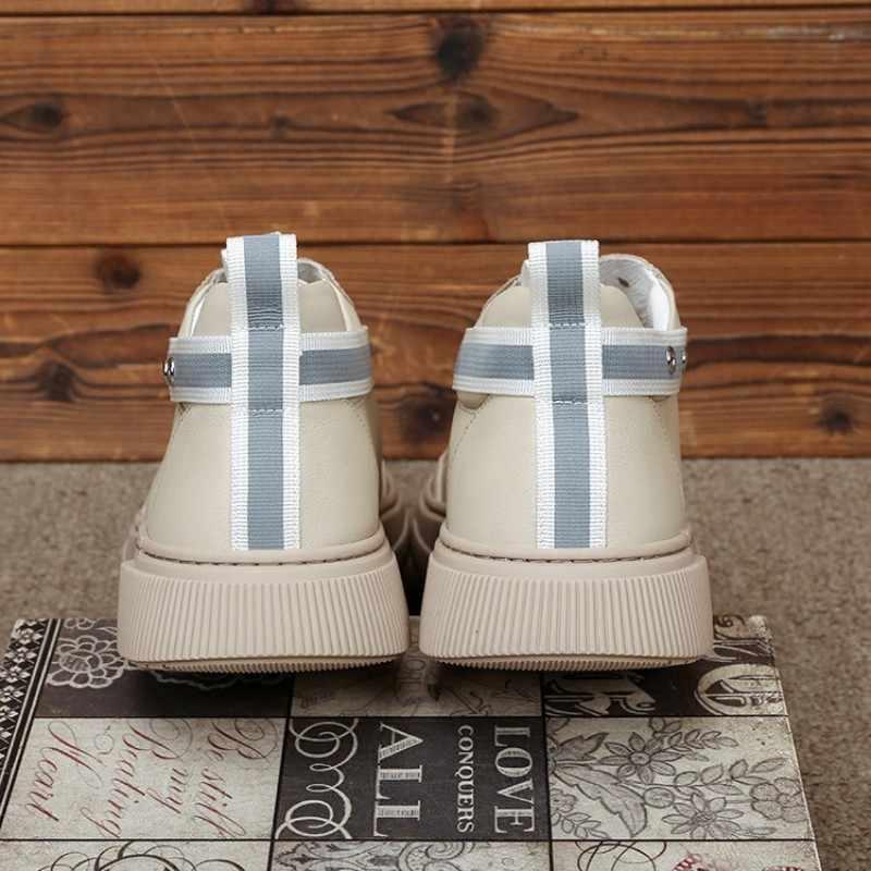 บุรุษของแท้รองเท้าหนังหนาแพลตฟอร์ม Lace Up รองเท้าผ้าใบสบายๆนอก Joggers รองเท้าแฟชั่น Tenis Zapatos De Hombre รองเท้า