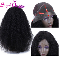 Soph Queen 13*4 Lace Frontal Human Hair Wigs For Black Women Brazilian Kinky Curly Remy Hair Human Lace Wigs With Baby Hair