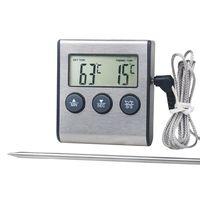Digitale Küche Thermometer LCD Display Lange Sonde Alarm für Grill Backofen Essen