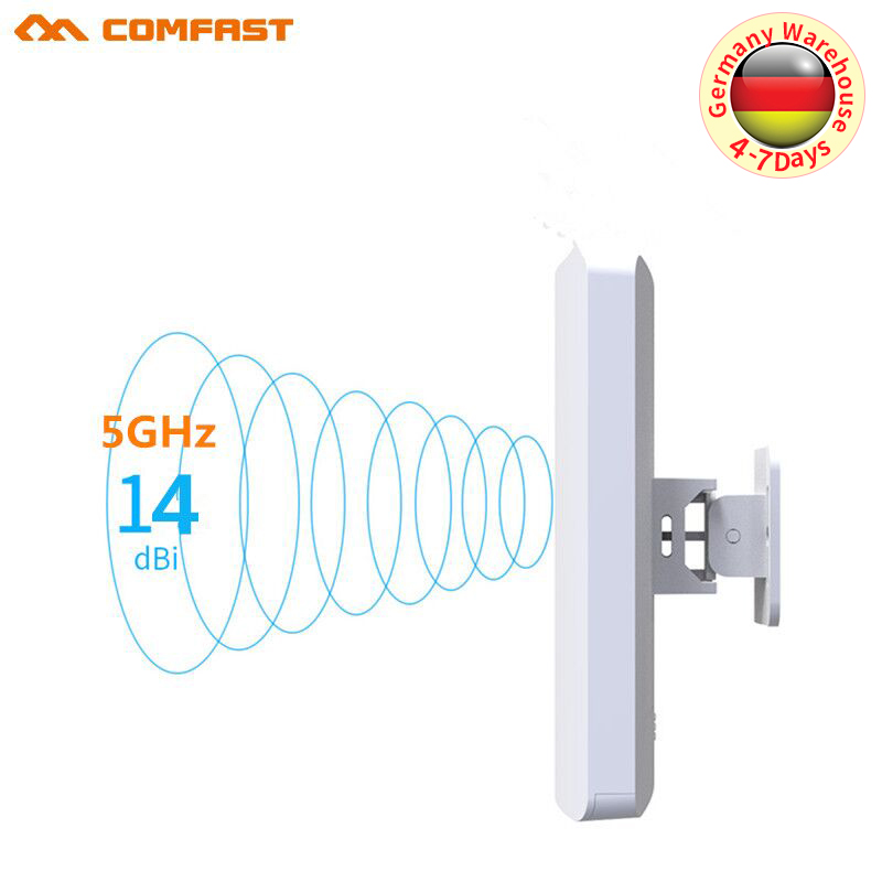 3-5KM Powerful 300Mbps 5.8G Outdoor Wireless Bridge CPE Access Point 2*14 WI-FI Antenna Repeater Nanostation Wifi For IP Camera