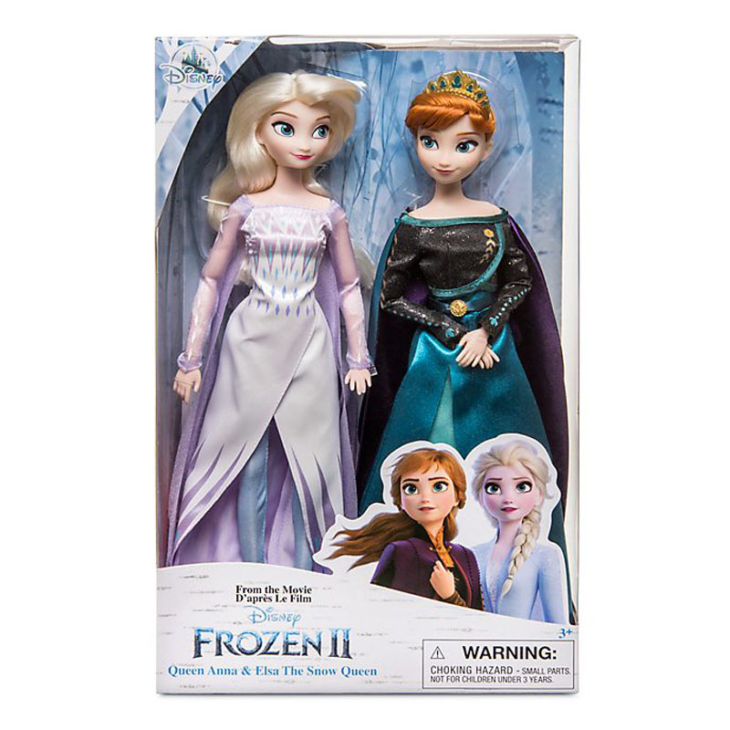 Disney Toys Frozen 2 Elsa and Anna Princess Doll Toys with Accessories Olfa Sets Girl\'s Collection Dolls Kids Gifts with Box