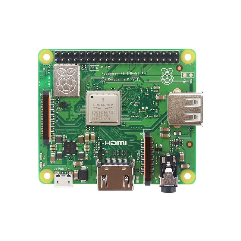 UK Raspberry Pi 3 Model A+ 1.4 GHz 64-bit Quad Core BCM2837B0 Cortex-A53 CPU 2.4 GHz/5GHz wireless LAN Bluetooth 4.2/BLE image