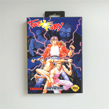Fatal Fury   USA Cover With Retail Box 16 Bit MD Game Card for Sega Megadrive Genesis Video Game Console