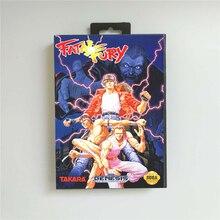 치명적인 격노 소매 상자가있는 미국 커버 Sega Megadrive Genesis 비디오 게임 콘솔 용 16 비트 MD 게임 카드