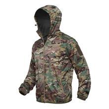 Охотничьи куртки тактическая куртка с капюшоном камуфляжная одежда верхняя одежда кожа ветровка для охоты оборудование для изготовления а...