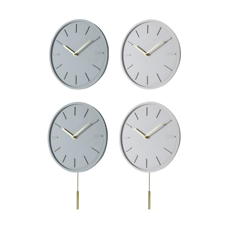 Nordic Silent Wall Clock Modern Living Room Mute Clock Swing Clock Home Personality Quartz Wall Clock Bedroom Home Decor