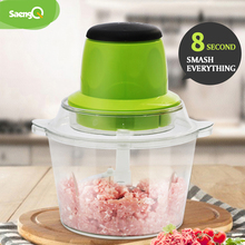 Electric Chopper Shredder Meat-Grinder Kitchen Stainless Saengq 2l-Capacity