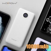 Power-Bank Digital-Display WOPOW 10000mah External-Battery-Charger Phone Fast-Charging