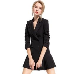 Retro autumn and winter womens pants suit black wine red Khaki blazer jacket and pants 2019 office wear womens suit