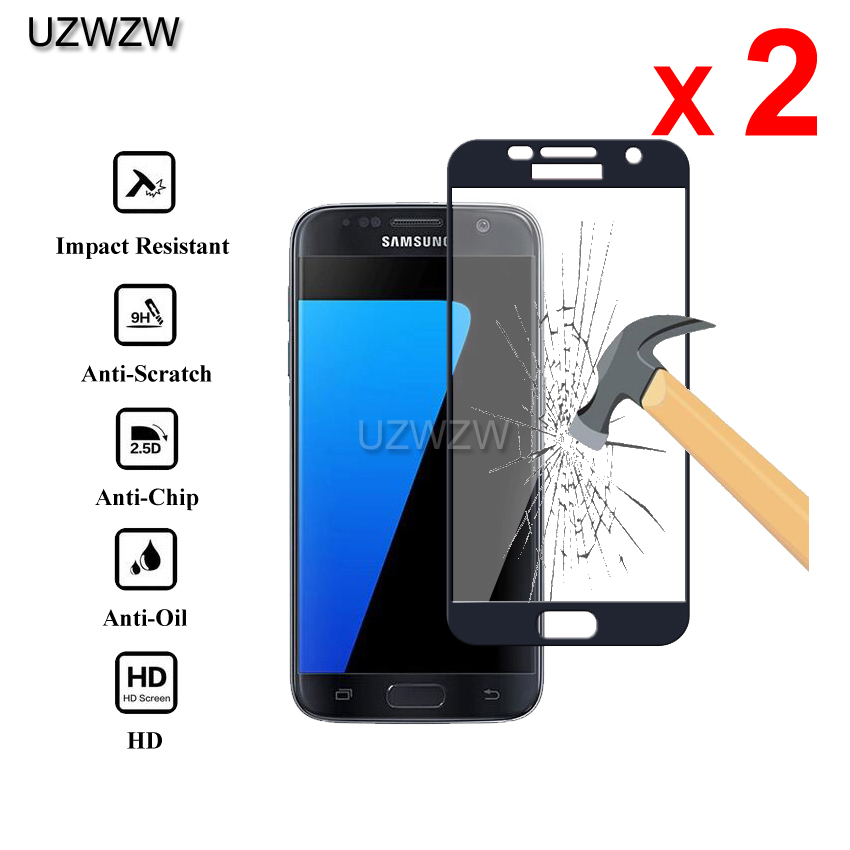2pcs Tempered Glass For Samsung Galaxy S7 Full Cover 0.26mm 2.5D Screen Protective Tempered Glass For Samsung Galaxy S7 Glass-in Phone Screen Protectors from Cellphones & Telecommunications on