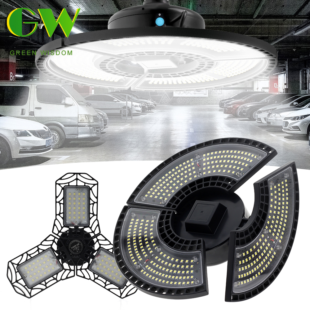 Super Bright Industrial Lighting Garage Light AC85-265V E27 60W Deformable UFO High Bay Industrial Lamp for Workshop Warehouse