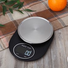 5Kg/0.1g Mini LCD Digital Kitchen Scale Stainless Steel Food Coffee Weighing Tool Cooking Baking Weight G Oz Lb Tl Kg Ml