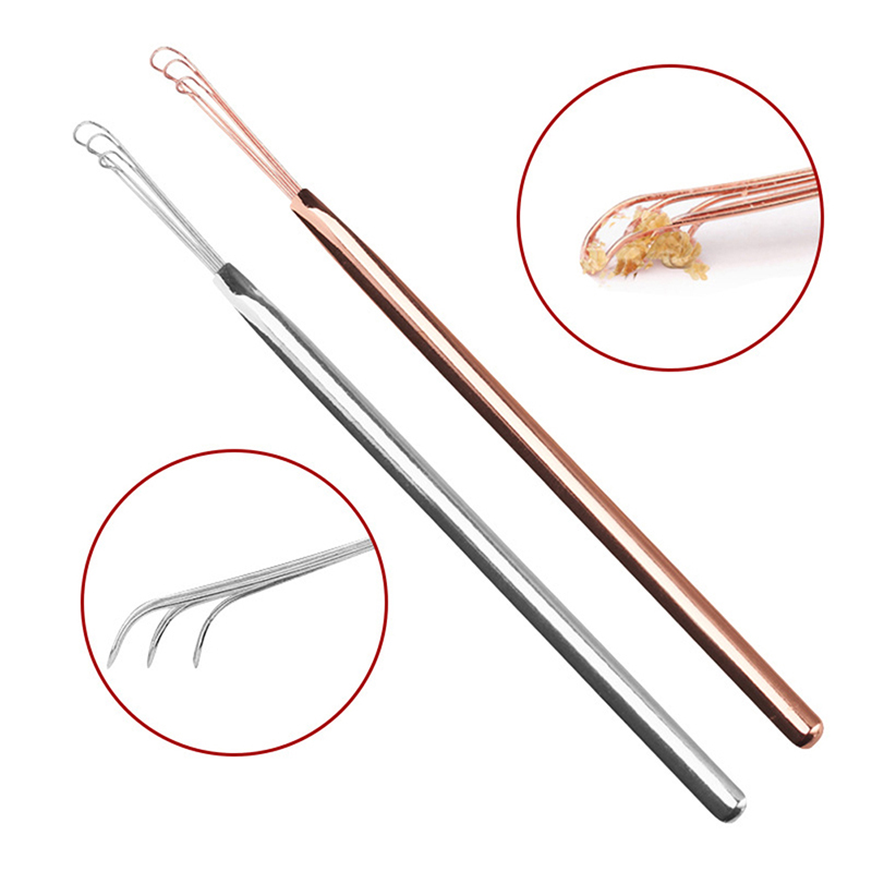 1PCS Ear Wax Pickers Cleaner Stainless Steel Earpick Wax Remover Curette Ear Pick Cleaner Ear Cleaner Spoon Epiwax