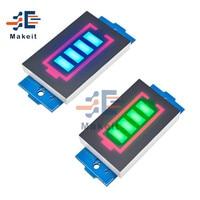 1S/2S/3S/4s/5s/6S/7S 12.6V 18650 li-po batteria agli ioni di litio modulo indicatore di capacità Display a LED voltmetro Tester del misuratore di potenza