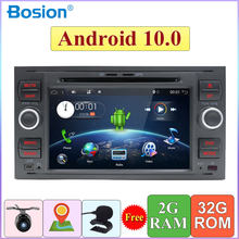 32G 2 DIN Android 10.0 Quad Core Car DVD Player Gps Navigasi WIFI 4G Untuk Ford S-max Kuga Fusion Transit Fiesta Fokus Kamera(China)