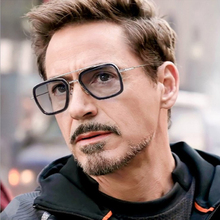 luxury Fashion Avengers Tony Stark Flight Style Man Sunglasses Men Square Brand