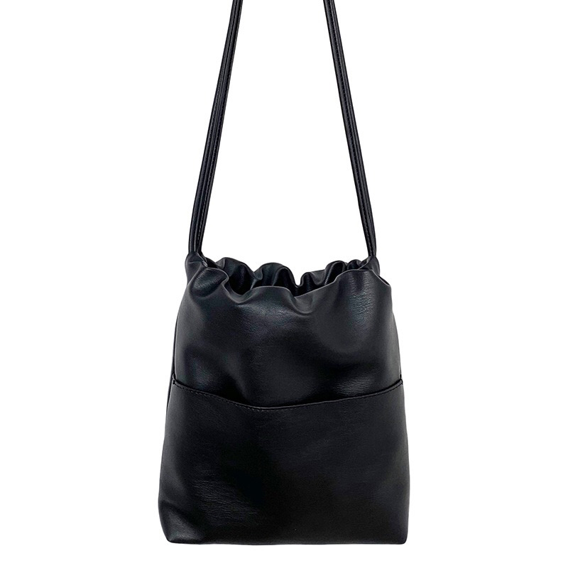 2020 New Casual Women Bag Small Drawstring Bucket Bag PU leather  Soft Youth Handbag Ladies Crossbody Shoulder Bag Whole SaleShoulder  Bags