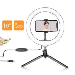 10inch/26cm Led Ring Light Photography Selfie Ring Lamp For Youtube & Tik Tok Makeup