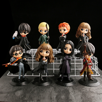 7 types  Q Posket Cute Big Eyes Harried Hermione Snape PVC Anime Dolls Collectible Potter Action Figure Q Version Model Toy недорого