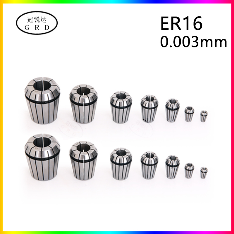 high precision 0.003mm ER16 <font><b>collet</b></font> range 3mm 3.175mm 4mm 5mm 6mm 7mm <font><b>8mm</b></font> 9mm 10mm er16 <font><b>chuck</b></font> for cnc machina lathe tool holder image