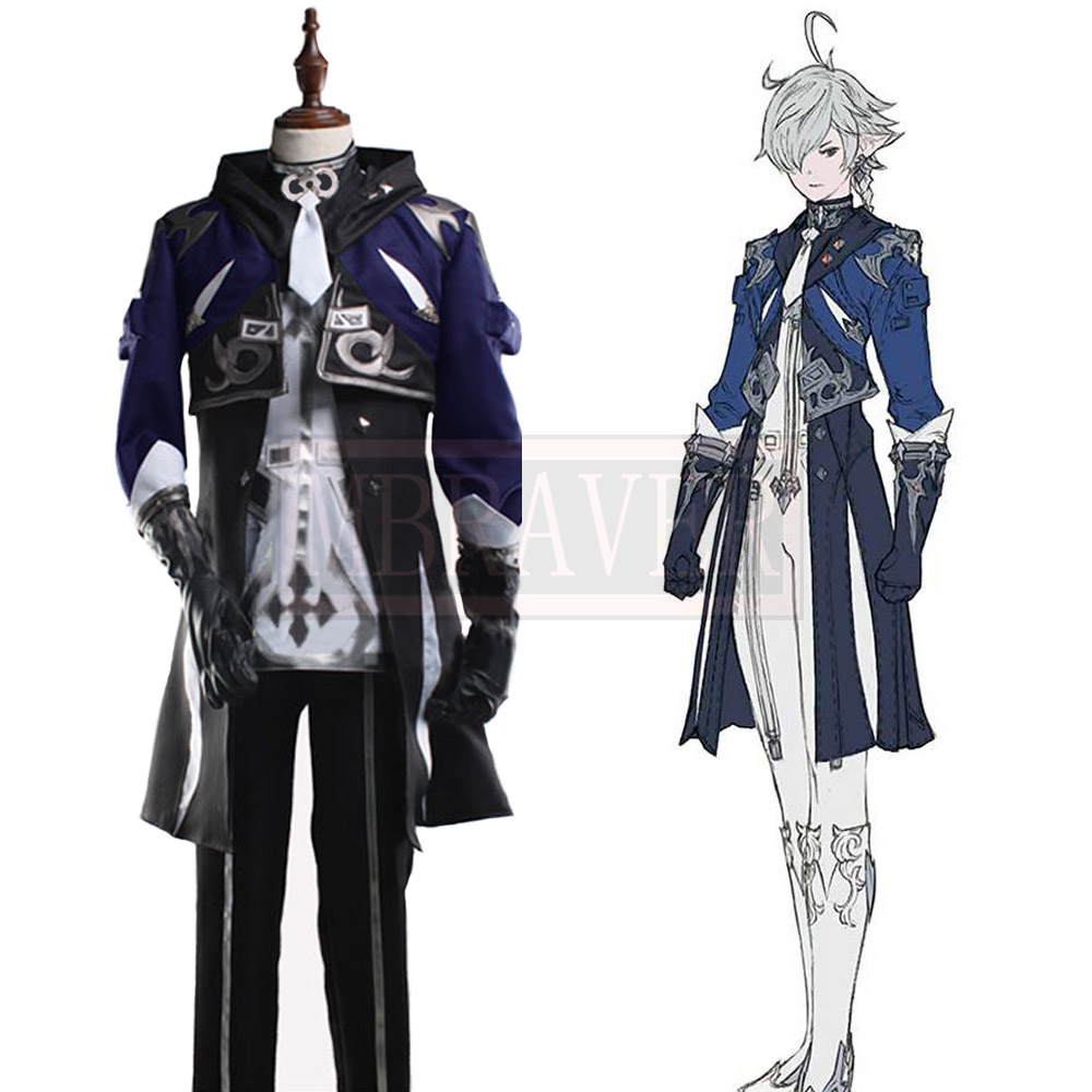 Final Fantasy XIV FF 14 Alphinaud Leveilleur Cos Cosplay Costume Party Christmas Halloween Custom Made Any Size image