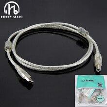 Cable USB Hifi de amplificador de decodificador, tipo de alta velocidad A tipo B, Cable de datos Hifi para DAC, dos anillos magnéticos de blindaje