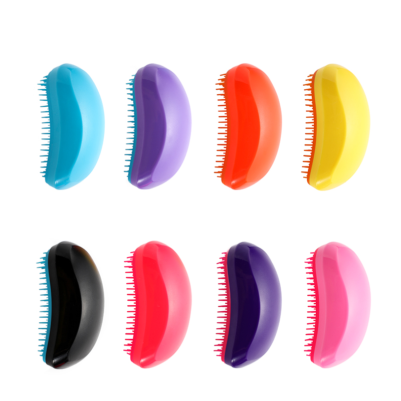 Fashion Colorblock Detangling Hair Comb Beauty Anti-knot Massage Hair Brush Haircare Scalp Styling Hot Comb Barber Accessories