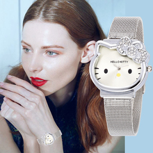 Hello Kitty Women Dress Watch Children Bracelet Clock Cartoo