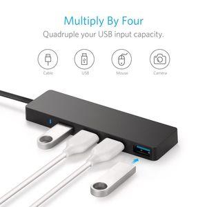 Новые 4-P USB концентраторы USB 3,0 Ультра тонкий концентратор данных для Macbook ноутбук ПК USB Anker бренд 2,4 ГГц Беспроводные устройства MIDI устройства!