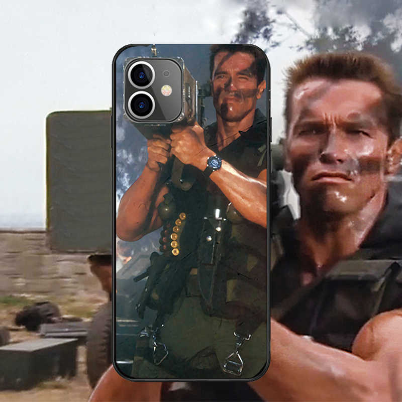 Arnold Schwarzenegger film Commando 1985 affiche noir coque souple pour Apple iPhone 11 pro max i phone 11 i11 pro max coque fundas