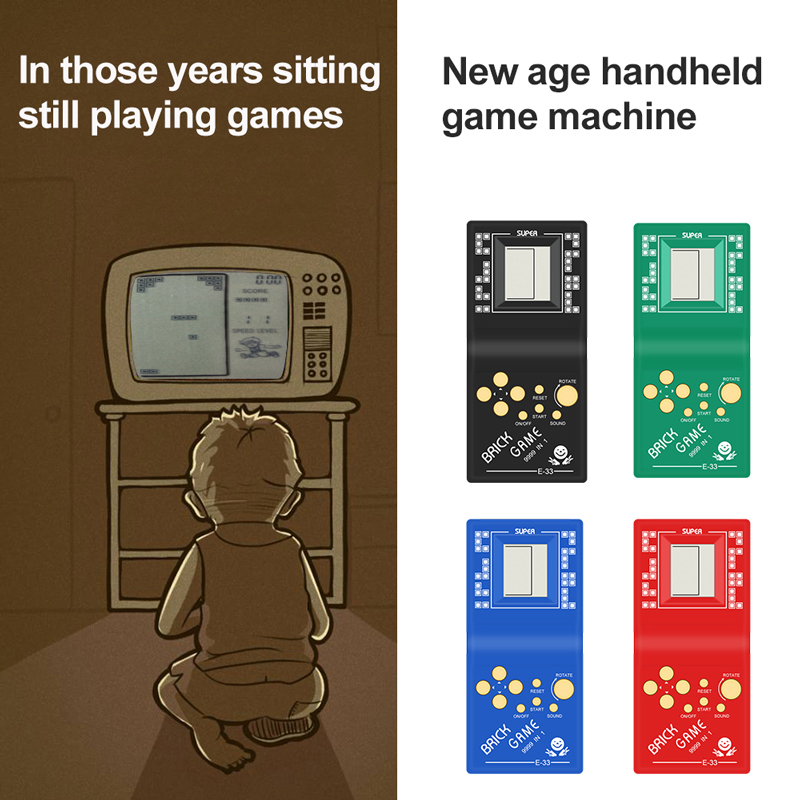 Handheld Game Players Classic Childhood Tetris Hand held LCD Electronic Game Toys Pocket Game Console