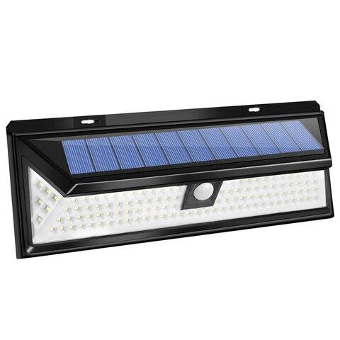118 leds movido a energia solar lampada de seguranca sensor movimento luz parede para jardim