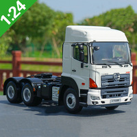 1:24 sacle GAC Hino Heavy 700 Tractor Trailer Truck Model Car Vehicle Toy Collection Display kids Children Adult Gift display