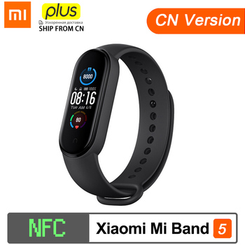 Xiaomi Mi Band 5 NFC Version Smart Bracelet AMOLED Screen Miband 5 Smartband Fitness Traker Bluetooth PPG heart rate Smart Band english version original xiaomi huami amoled screen heart rate monitor built in nfc smart watch amazfit verge 3