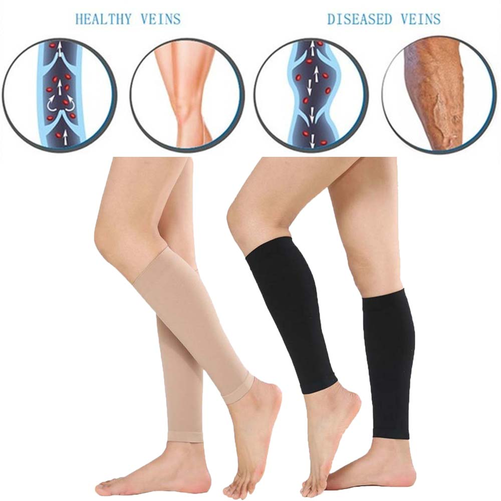 Bamboo Charcoal Knee Pads Protector Support Unisex Calf Compression Varicose Veins Treat Shaping Pressure Stockings
