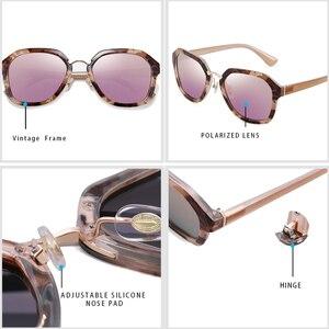 Image 3 - بارزين الاستقطاب النظارات الشمسية النساء TR90 نظارات شمسية الإناث خمر السيدات نظارات للقيادة مع الأسود