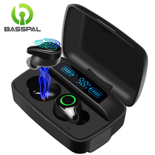 BassPal F9 Bluetooth 5.0 Wireless Earbuds 156H Playtime Deep Bass Hi-Fi Stereo Sound in-Ear Bluetooth Earphones