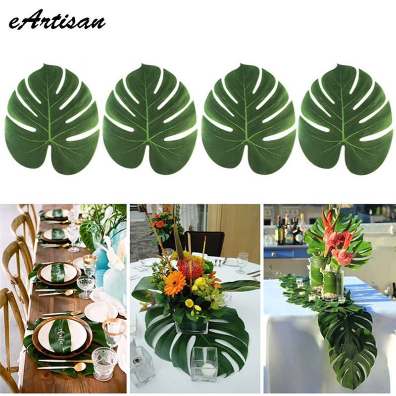 tropical decorations on bed tropical home decor ideas.htm eartisan 60pcs lots artificial tropical palm fake plant leaves  eartisan 60pcs lots artificial tropical